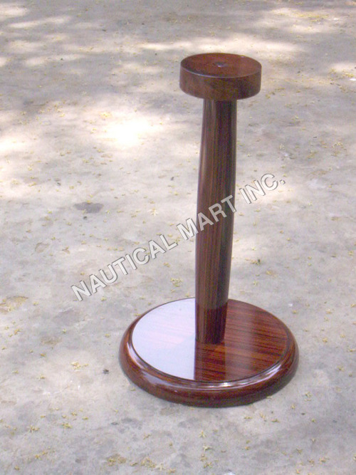 Single Wooden Helmet Stand