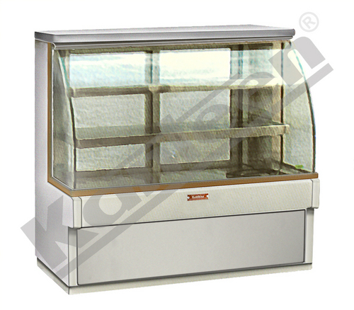 Bend Glass Display Refrigerated Showcase