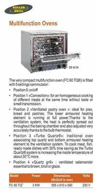 Multifunction Oven - Roller Grill - FC-60-TQ