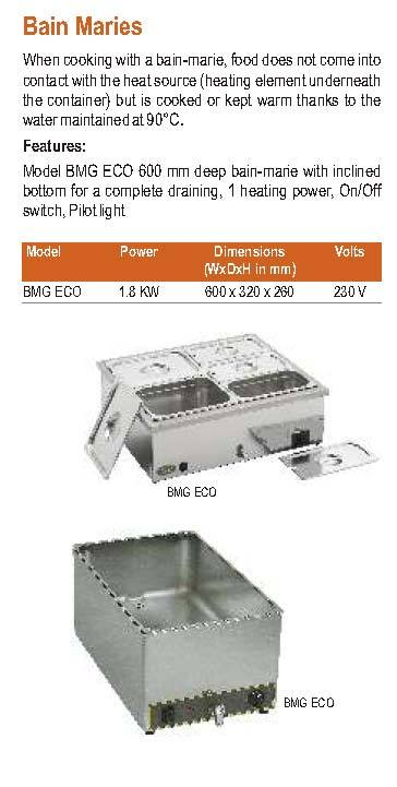 Bain Marie Roller Grill Bmg Eco