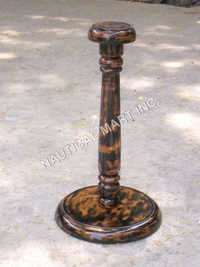 Brown Wooden Helmet Stand