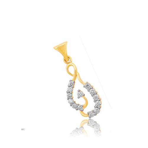 Avsar Real Gold and Diamond Fashion Pendant # AVP010