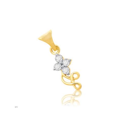 Avsar Real Gold and Diamond Fancy Pendant # AVP011