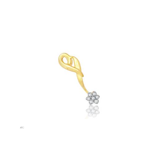 Avsar Real Gold and Diamond Fancy Pendant # AVP015