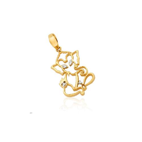 Avsar Real Gold and Diamond God Ganesh Pendant # AVP016