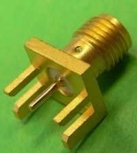 SMA female straight PCB edge connector
