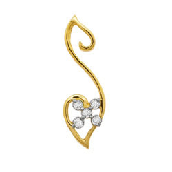 Avsar Real Gold and Diamond Heart Pendants # AVP028
