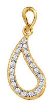 Avsar Real Gold and Diamond fancy Pendants # AVP030