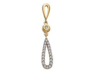 Avsar Real Gold and Diamond Fancy Pendants # AVP031