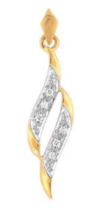Avsar Real Gold and Diamond Fancy Pendants # AVP032