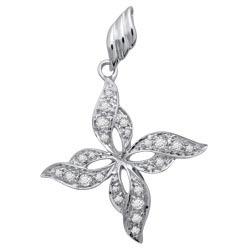 Avsar Real Gold and Diamond Flower Pendants # AVP034