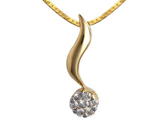 Avsar Real Gold and Diamond Pressure Set Pendants # AVP038