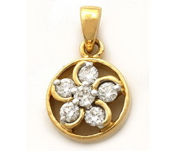 Avsar Real Gold and Diamond Nakshatra Pendant # AVP041