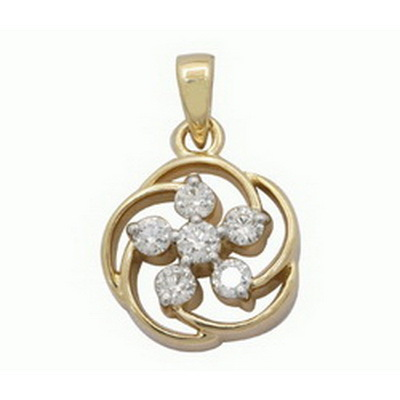 Avsar Real Gold and Diamond Nakshatra Pendant # AVP042