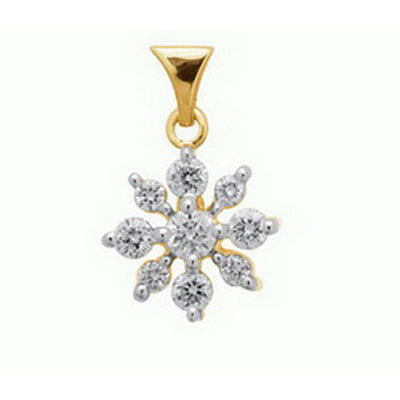 Avsar Real Gold and Diamond classic Circular Pendant # AVP044