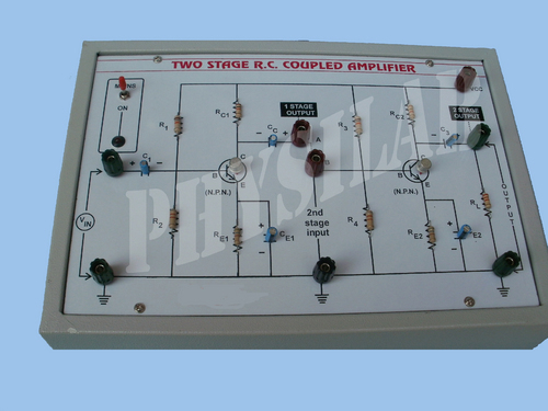 Two Stage RC Coupled Transistor Amplifier
