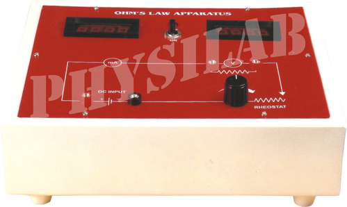 Ohms Law Apparatus WITH DIGITAL PANEL METERS.