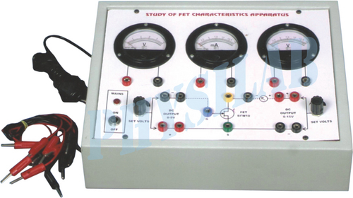 FET CHARACTERISTIC APPARATUS WITH REGULATED POWER SUPPLIES.