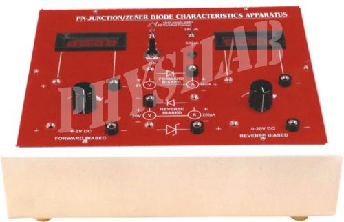 PN JUNCTION/ZENER DIODE CHARACTRISTIC APPARATUS WITH DIGITAL PANEL METER