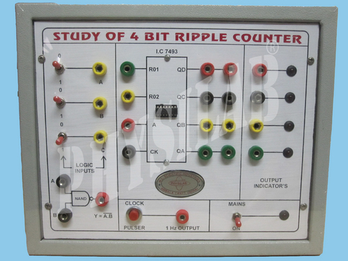 Study of 4 Bit Ripple Counter(Forward & Reverse)