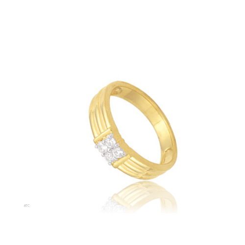Avsar Real Gold and Diamond Four-Stone Gents Ring # AVR003