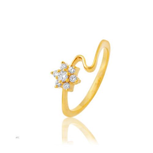 Avsar Real Gold and Diamond Pressure Set Ladies Ring # AVR006
