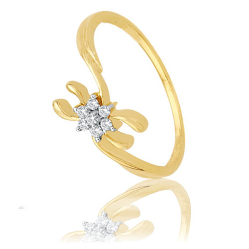 Avsar Real Gold and Diamond Fashion Ladies Ring # AVR007