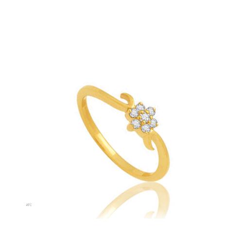 Avsar Real Gold and Diamond Pressure set Ring # AVR009