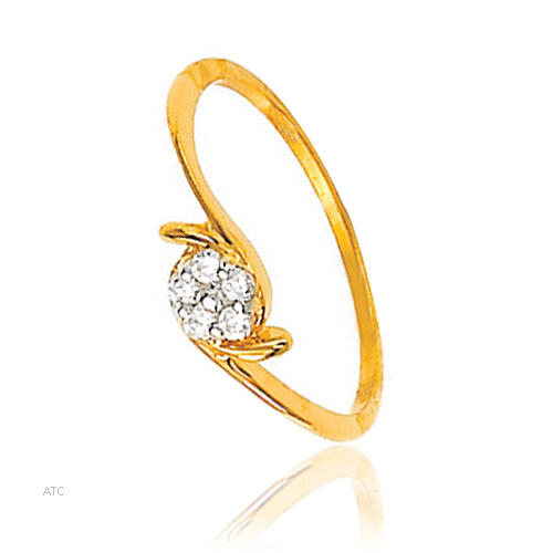 Avsar Real Gold and Diamond Fancy Ladies Ring # AVR010