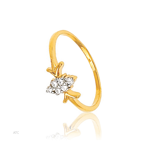 Avsar Real Gold and Diamond Marquise Diamond Look Ladies Ring # AVR011
