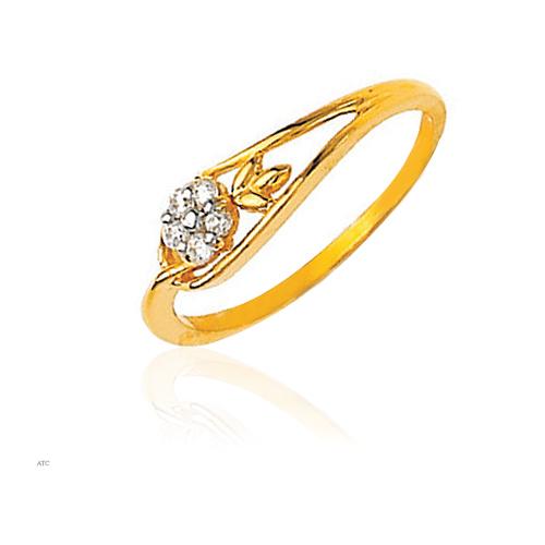 Avsar Real Gold and Diamond Fashion Flower Diamond Ladies Ring # AVR012