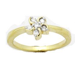 Avsar Real Gold and Diamond Swastik Ring # AVR013