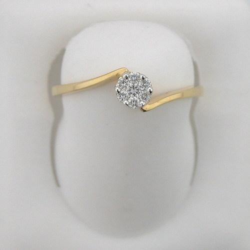 Avsar Real Gold and Diamond Seven Stone Pressure Set Ring # AVR014