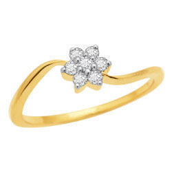 Avsar Real Gold and Diamond Fancy Ladies Ring # AVR015