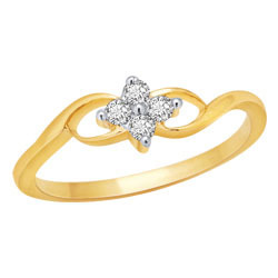 Avsar Real Gold and Diamond Four Stone Fancy Ring # AVR016