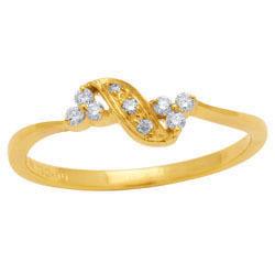 Avsar Real Gold and Diamond Fashion Ring # AVR018