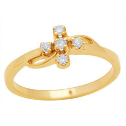 Avsar Real Gold and Diamond Fashion Ring # AVR027