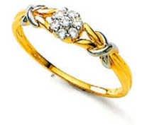 Avsar Real Gold and Diamond Stunning Ring # AVR033