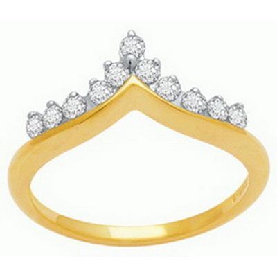 Avsar Real Gold and Diamond Crown Shape Fancy  Ring # AVR034