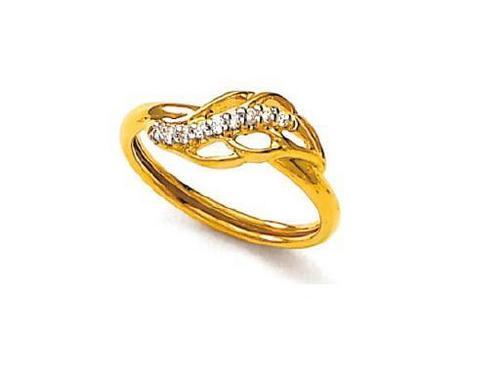 Avsar Real Gold and Diamond Heart Ring # AVR050