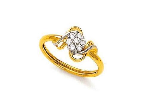 Avsar Real Gold and Diamond  Devine Ring #AVR051