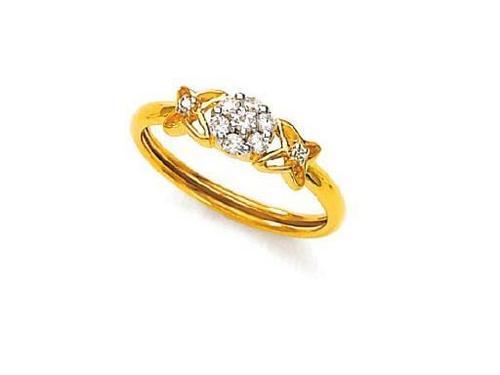 Avsar Real Gold and Diamond Preety Ring #AVR052