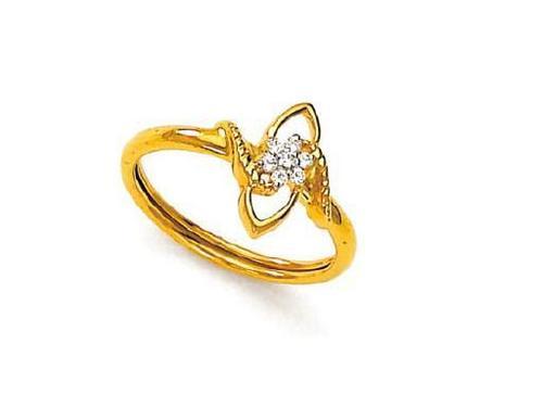 Avsar Real Gold and Diamond Fancy Ring # AVR053