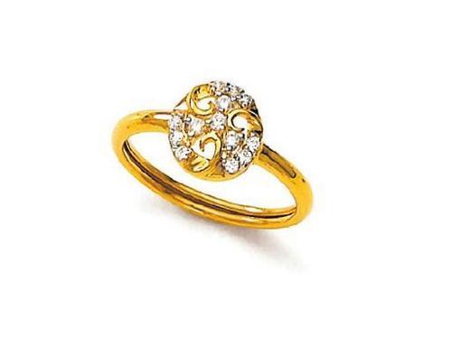 Avsar Real Gold and Diamond Fashion Ring # AVR054