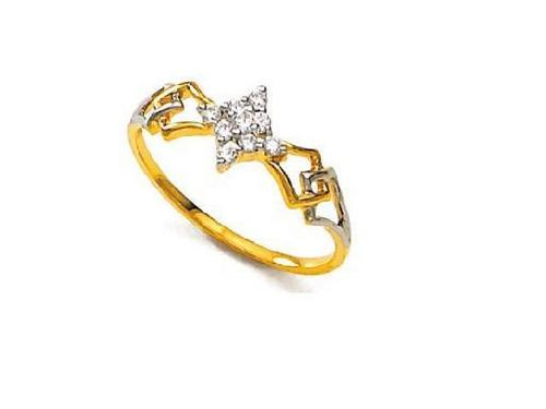 Avsar Real Gold and Diamond Traditional Shape Ring # AVR040