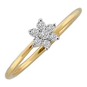 Avsar Real Gold and Diamond Pressure set Ring # AVR056