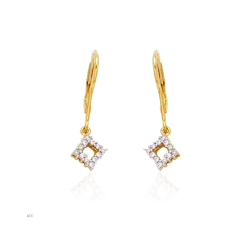 Avsar Real Gold and Diamond Fashion Hoop Earrings# AVE004