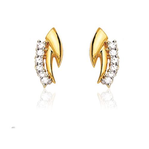 Avsar Real Gold and Diamond Fancy Earrings # AVE008