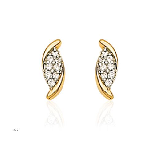 Avsar Real Gold and Diamond Fancy Earrings # AVE012