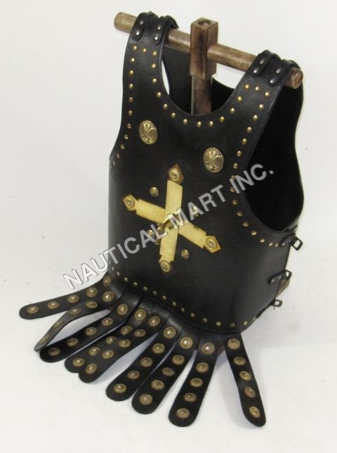 Plus Sign Leather Armor Jacket Adult Size